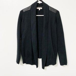 Banana Republic Cardigan with Faux Leather